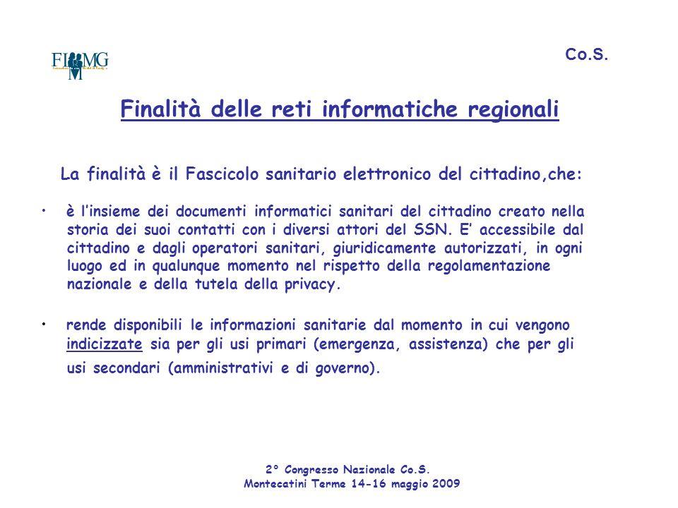 Finalità delle reti informatiche regionali