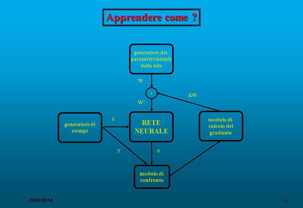 Apprendere come RETE NEURALE generatore dei parametri iniziali