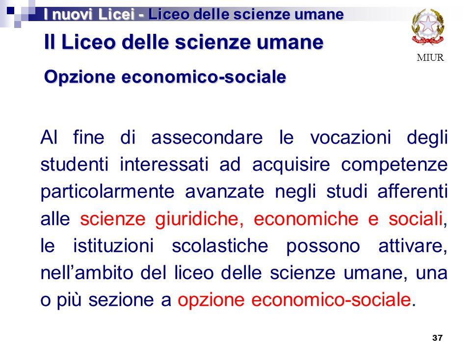 Il Liceo delle scienze umane