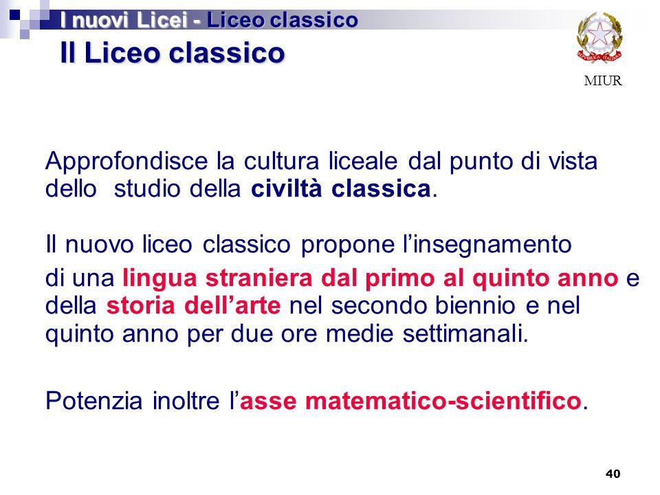 I nuovi Licei - Liceo classico