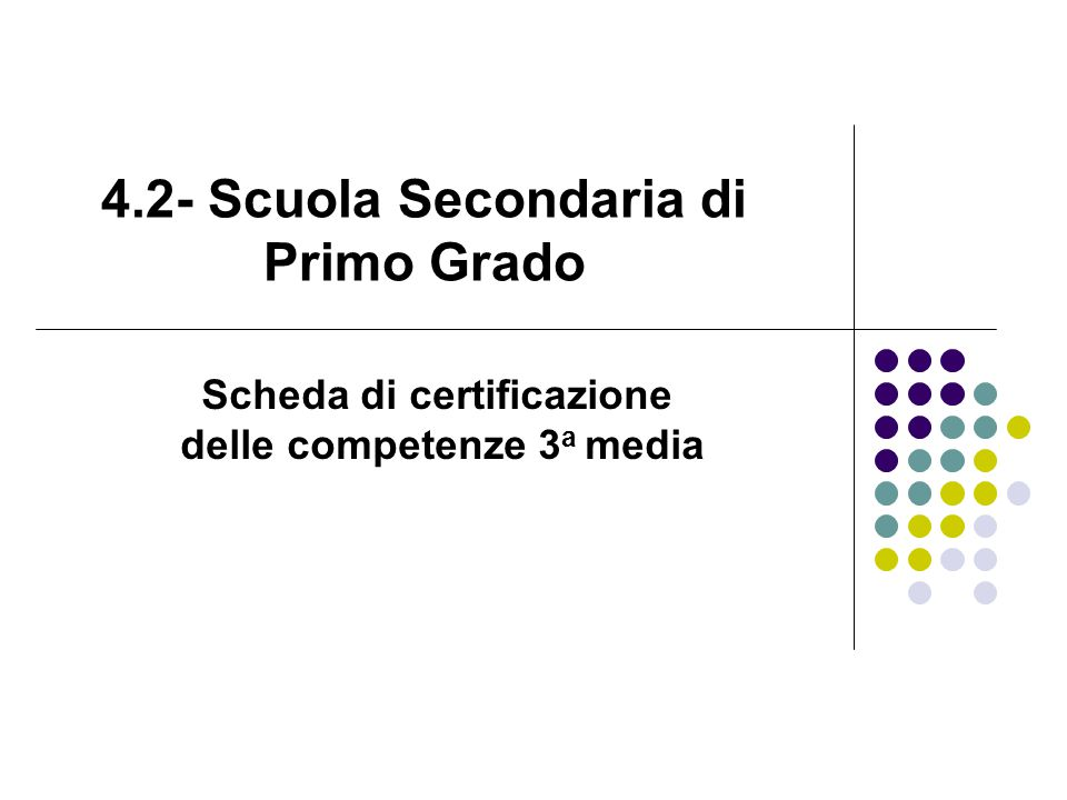 4.2- Scuola Secondaria di Primo Grado