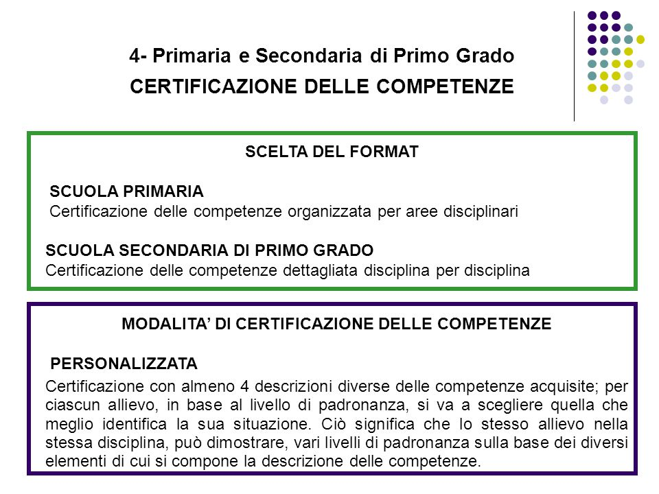 4- Primaria e Secondaria di Primo Grado