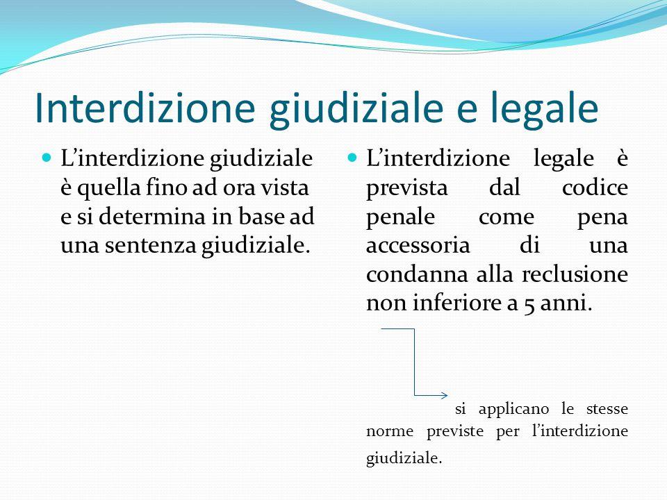 Interdizione giudiziale e legale