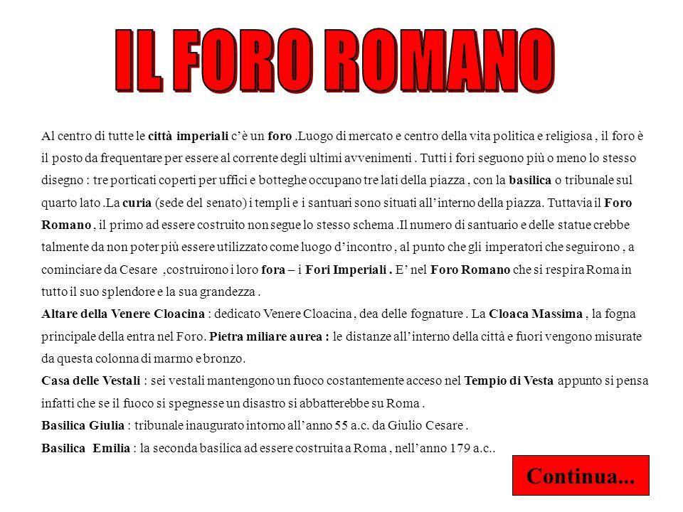 IL FORO ROMANO Continua...
