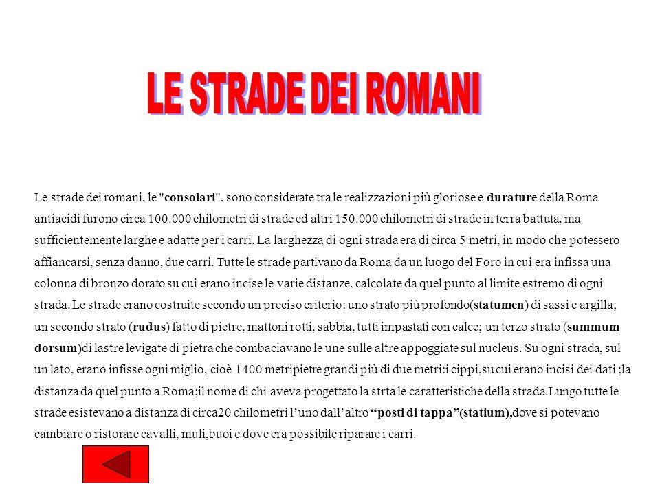 LE STRADE DEI ROMANI