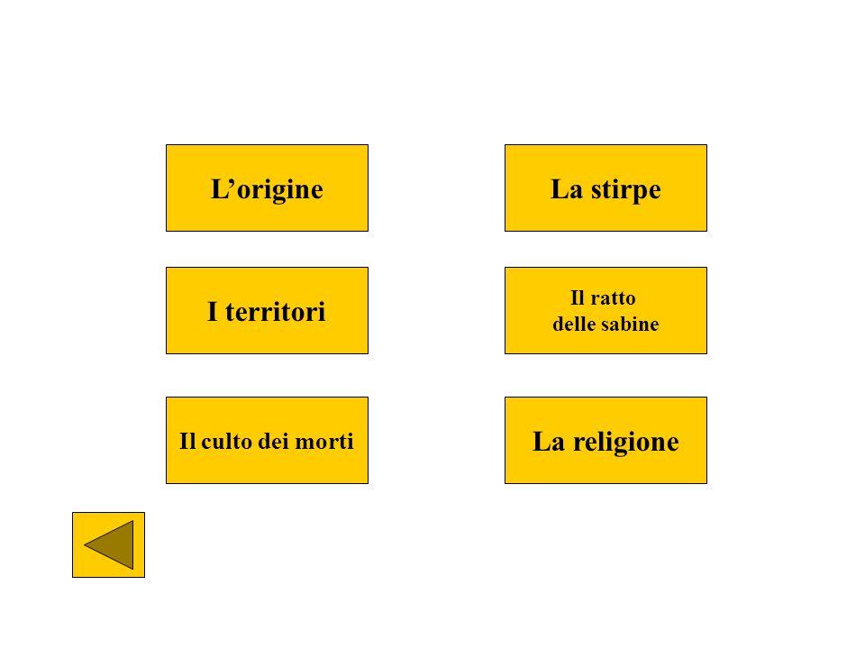 L'origine La stirpe I territori La religione
