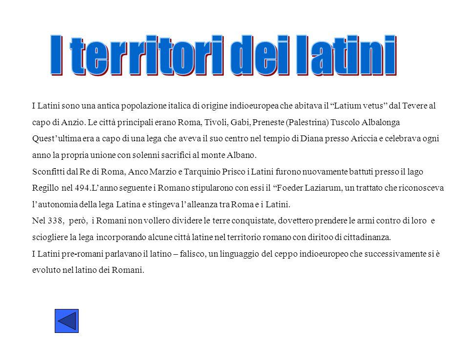 I territori dei latini