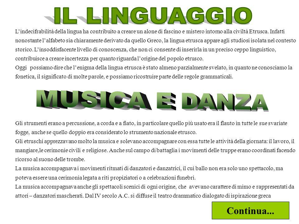 IL LINGUAGGIO MUSICA E DANZA