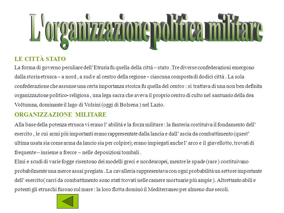 L organizzazione politica militare