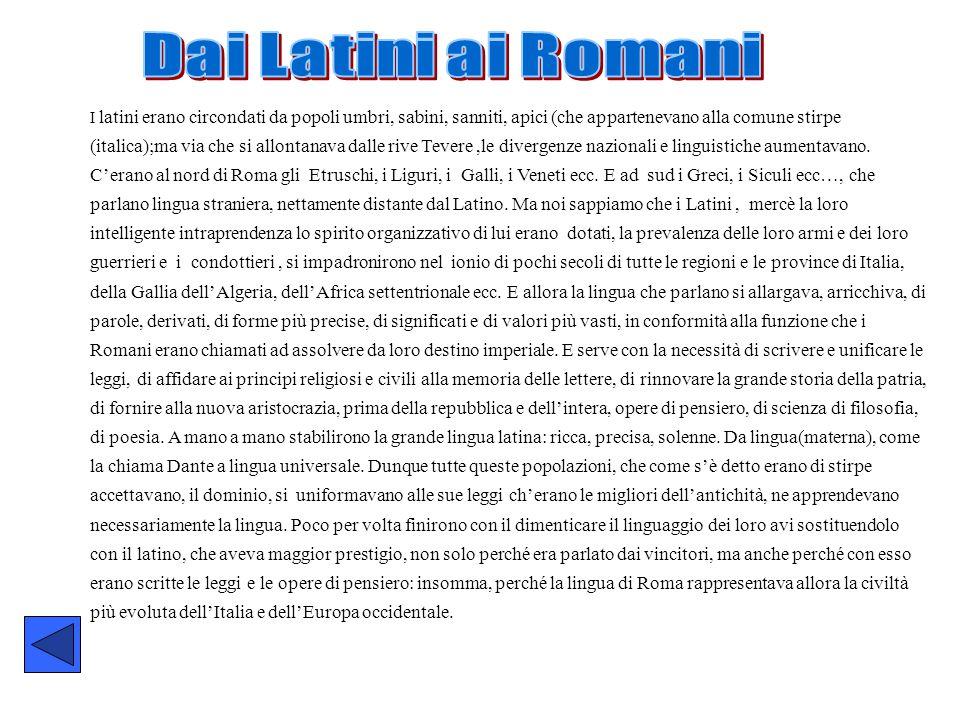 Dai Latini ai Romani