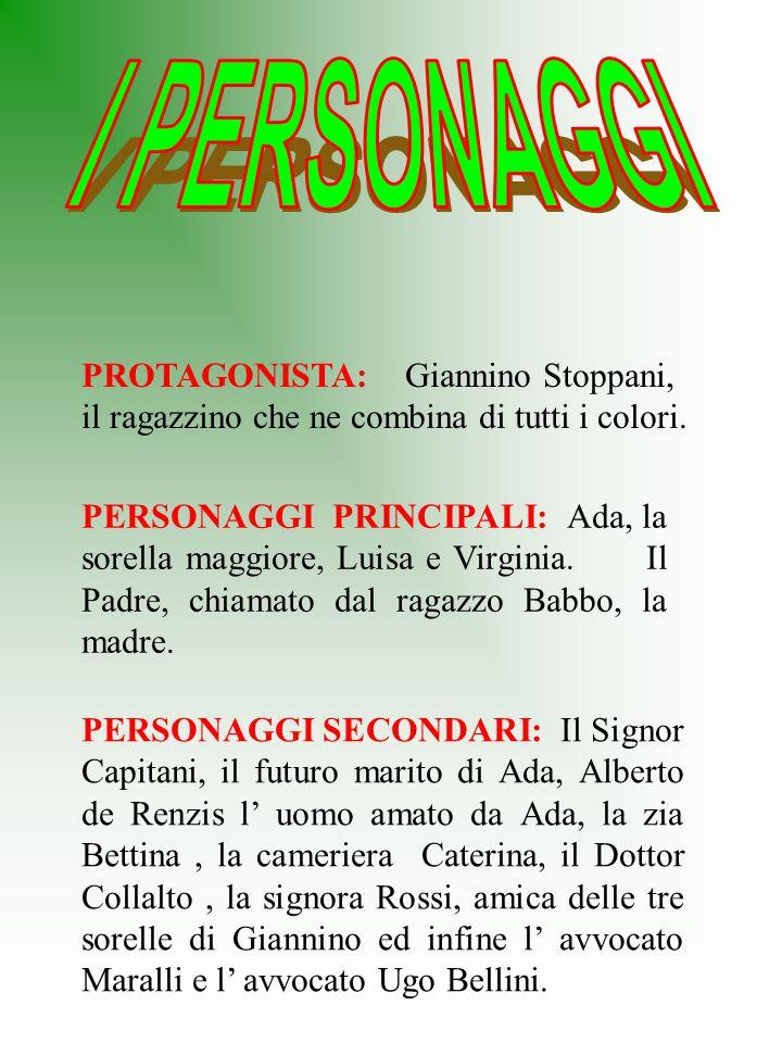 I PERSONAGGI PROTAGONISTA: Giannino Stoppani, il ragazzino che ne combina di tutti i colori.