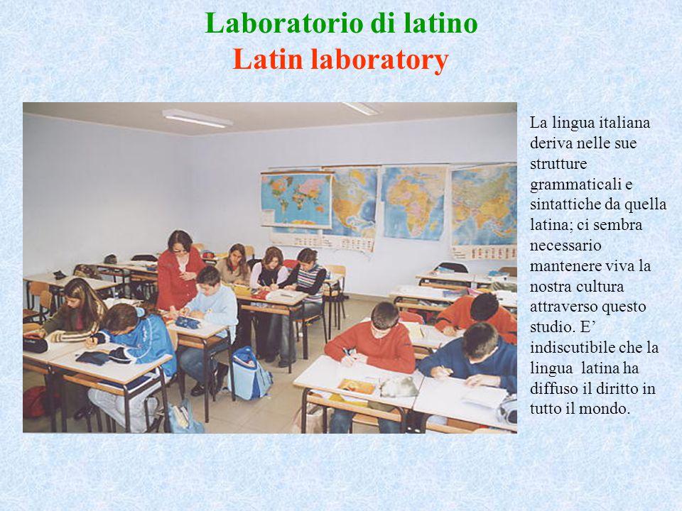 Laboratorio di latino Latin laboratory
