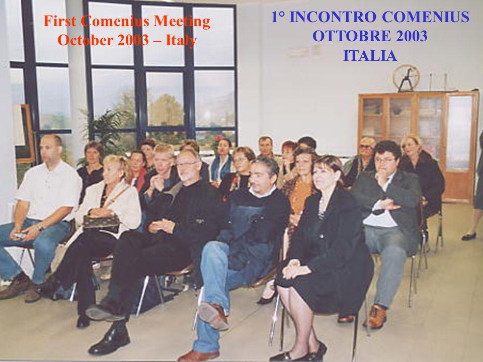 1° INCONTRO COMENIUS OTTOBRE 2003 ITALIA
