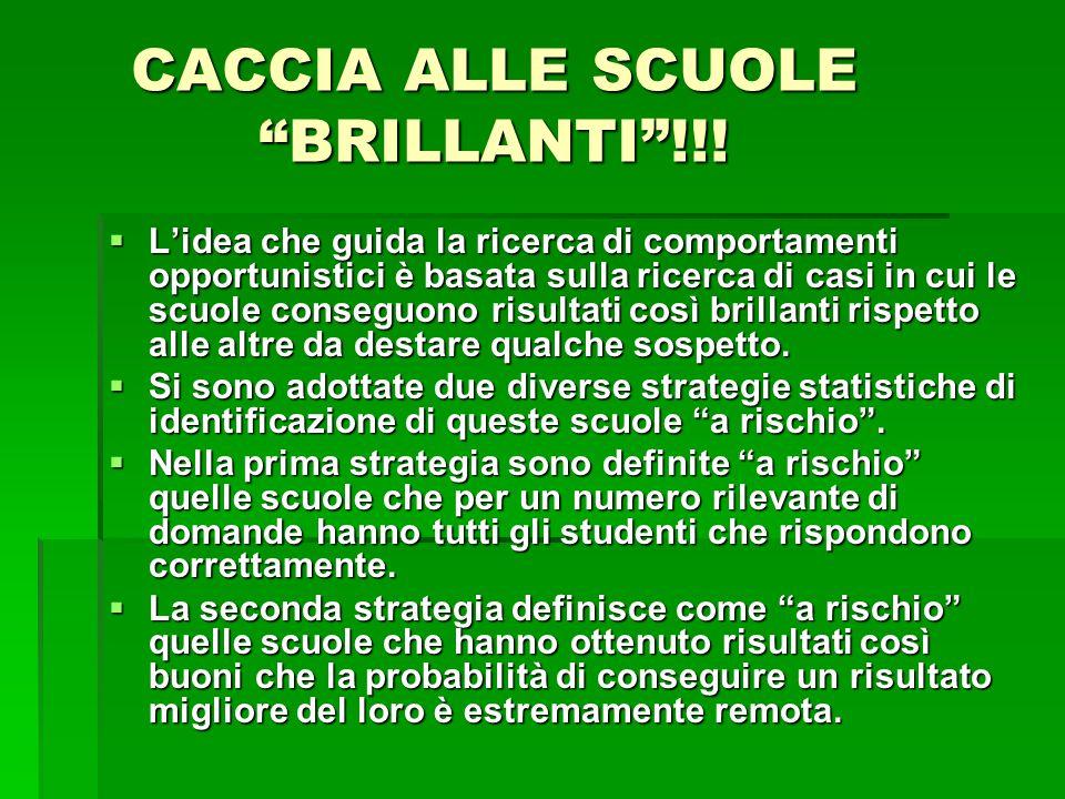 CACCIA ALLE SCUOLE BRILLANTI !!!