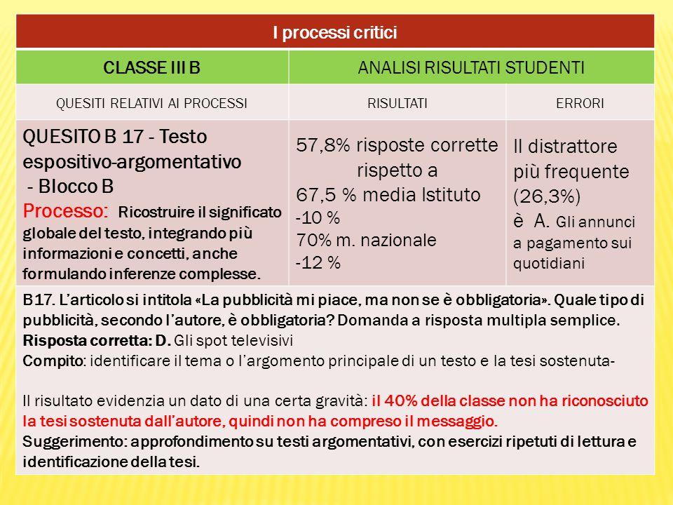 QUESITO B 17 - Testo espositivo-argomentativo - Blocco B
