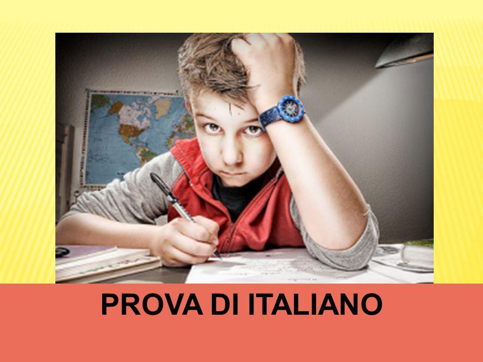 PROVA DI ITALIANO