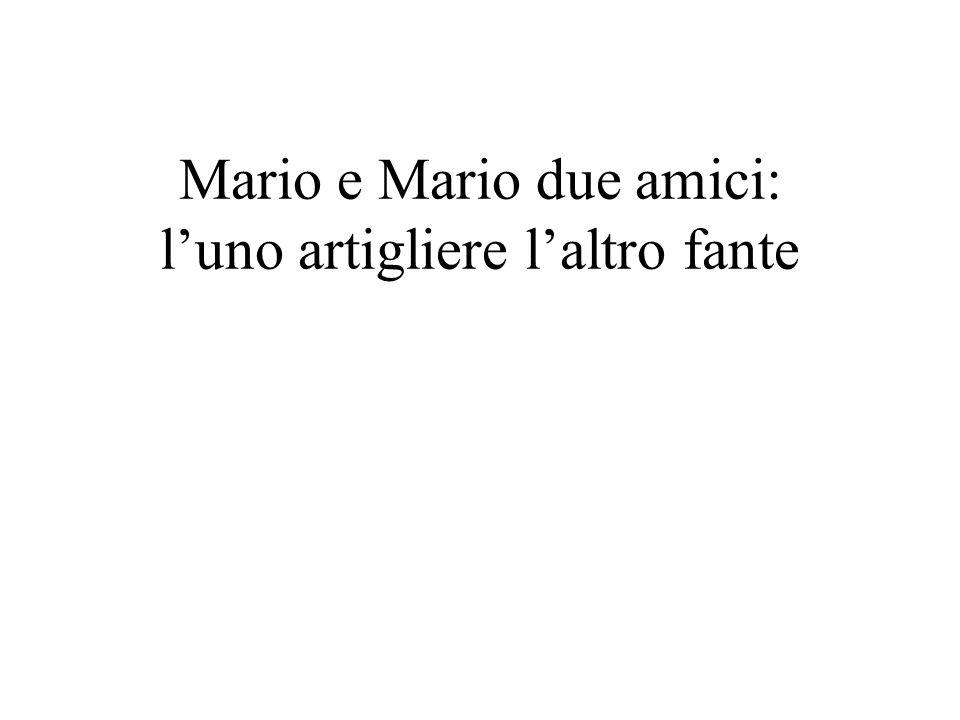 Mario e Mario due amici: l'uno artigliere l'altro fante