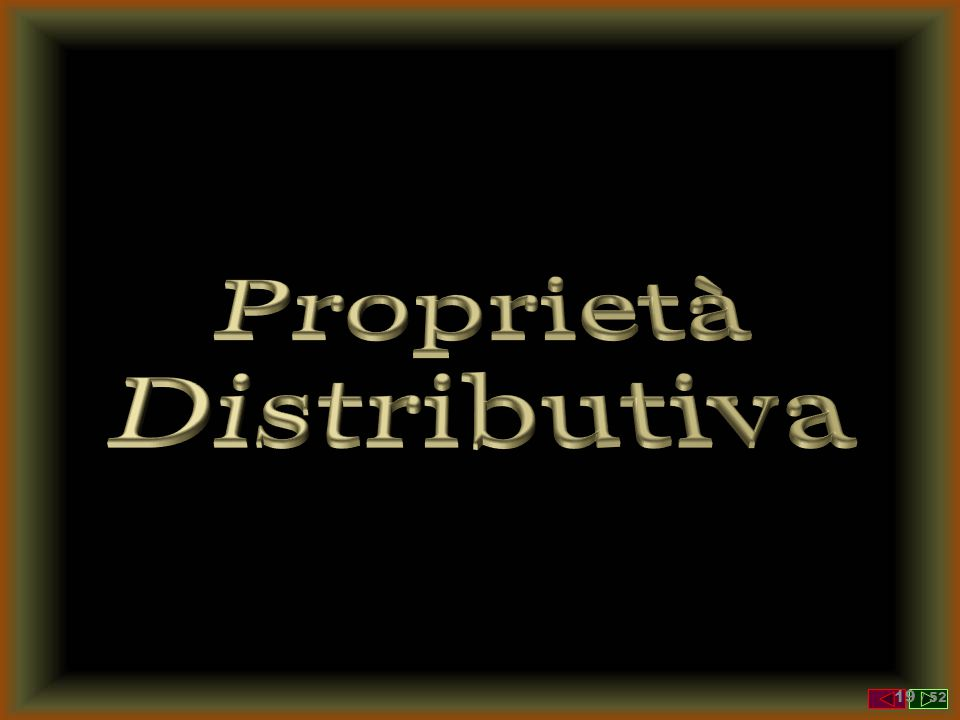 Proprietà Distributiva