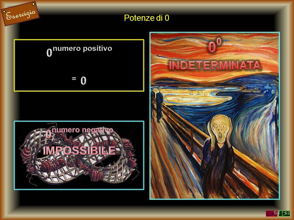 00 0numero positivo INDETERMINATA = 0 0numero negativo IMPOSSIBILE