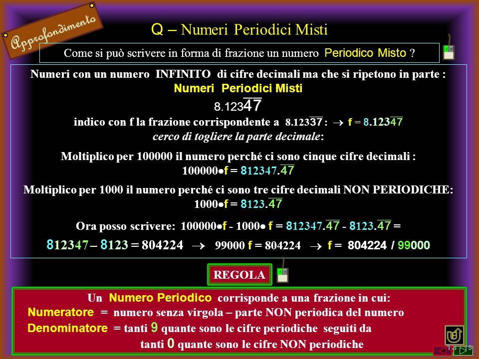 Q – Numeri Periodici Misti