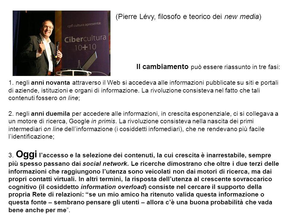 (Pierre Lévy, filosofo e teorico dei new media)