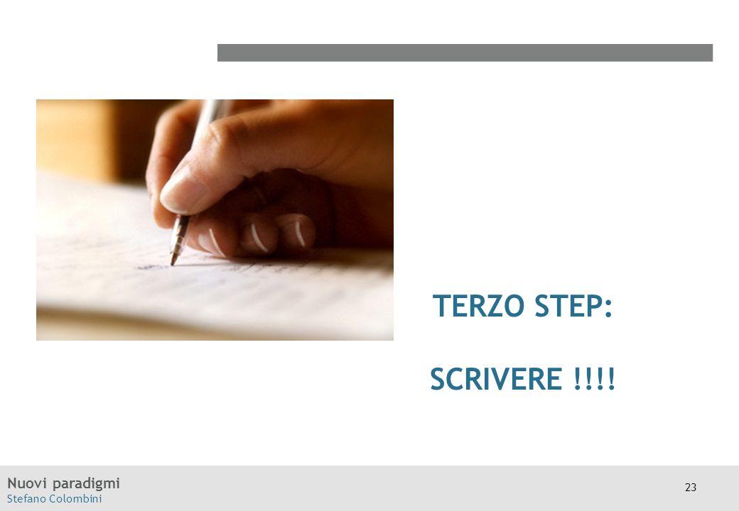 TERZO STEP: SCRIVERE !!!!