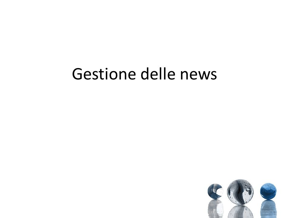 Gestione delle news