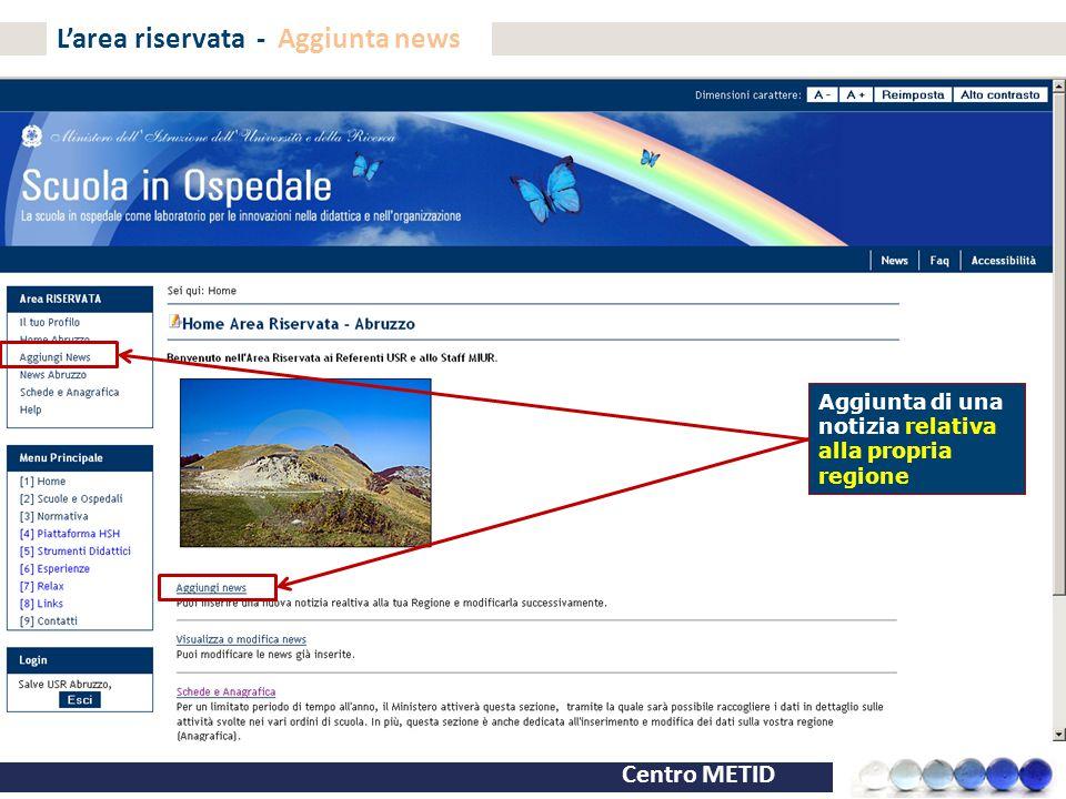 L'area riservata - Aggiunta news
