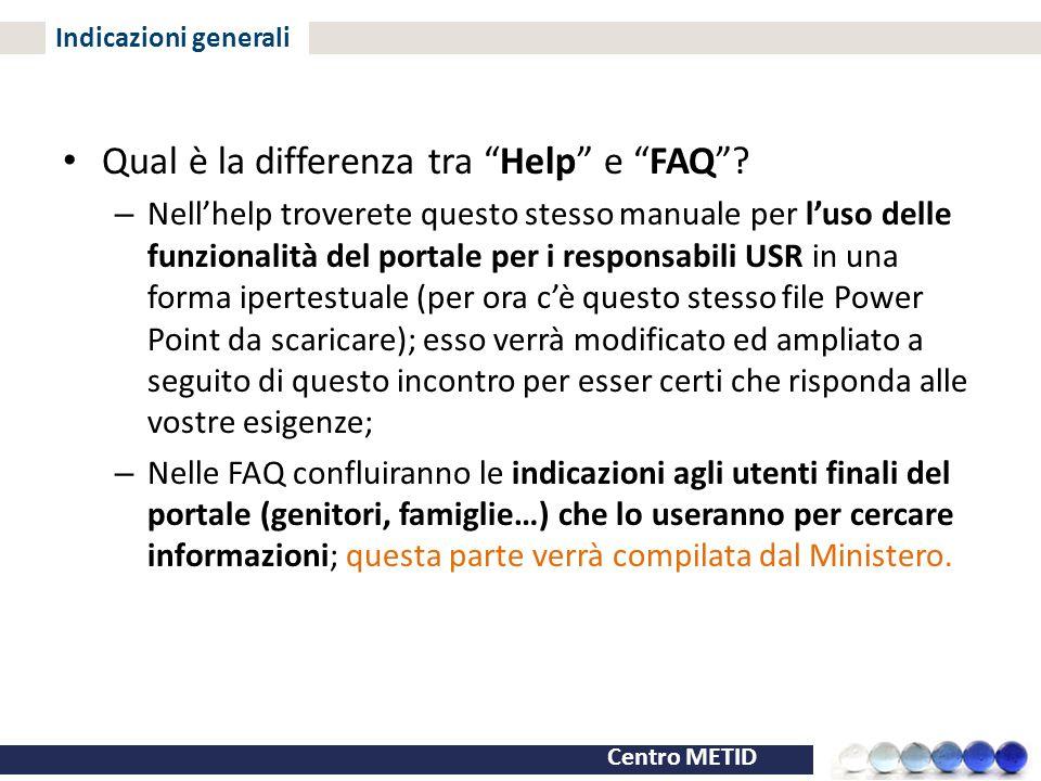 Qual è la differenza tra Help e FAQ