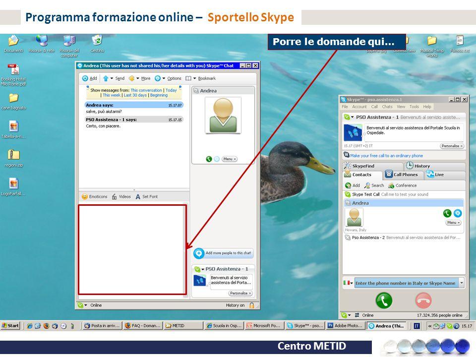 Programma formazione online – Sportello Skype