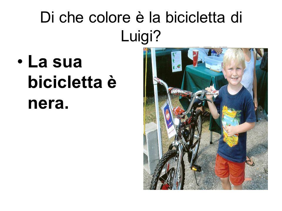 Di che colore è la bicicletta di Luigi