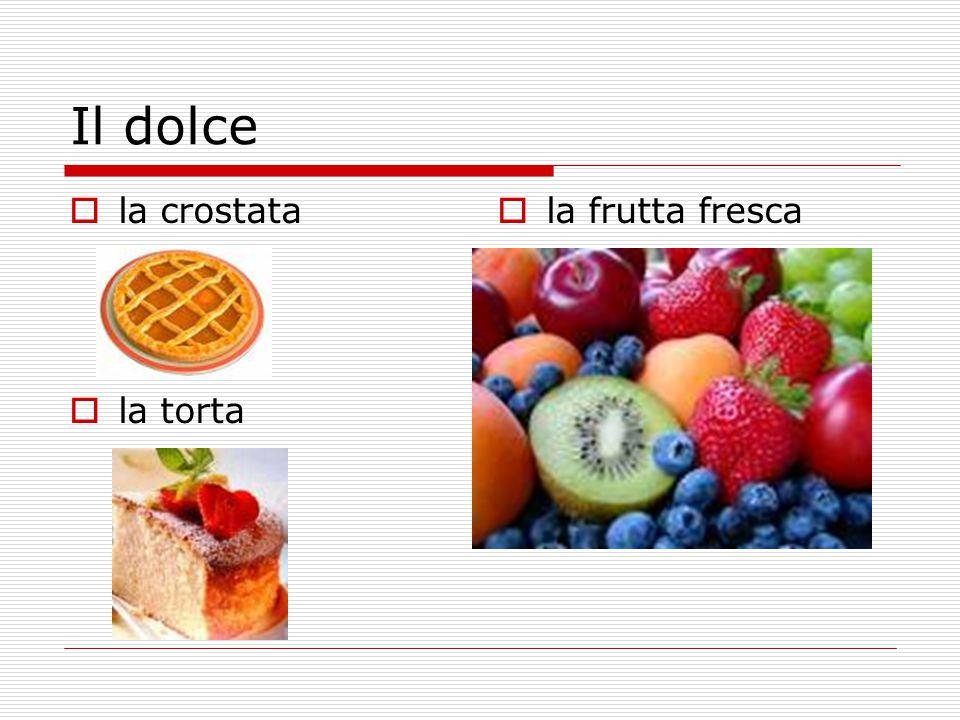Il dolce la crostata la torta la frutta fresca