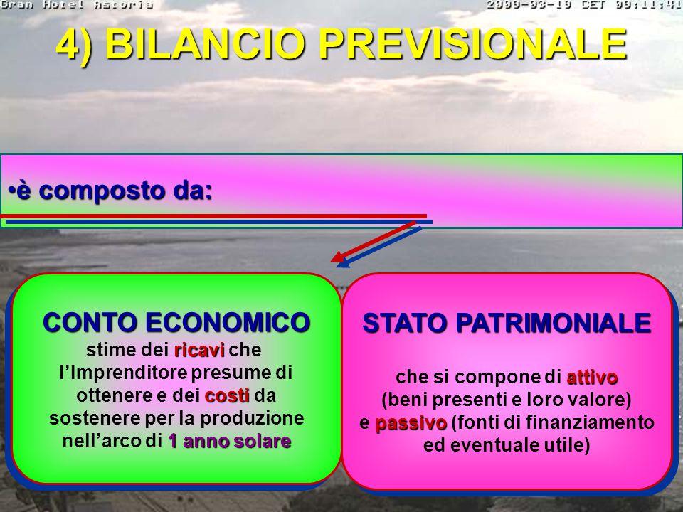 4) BILANCIO PREVISIONALE