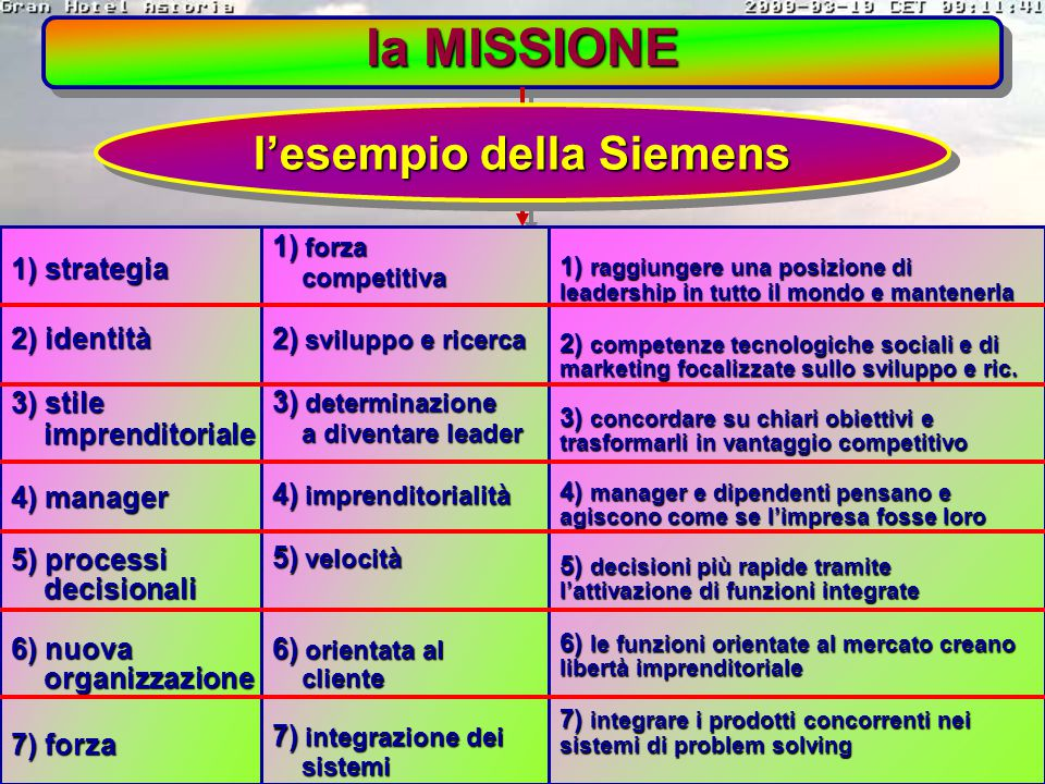 l'esempio della Siemens
