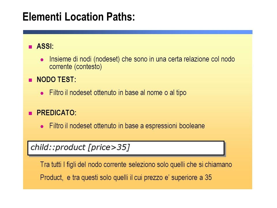 Elementi Location Paths: