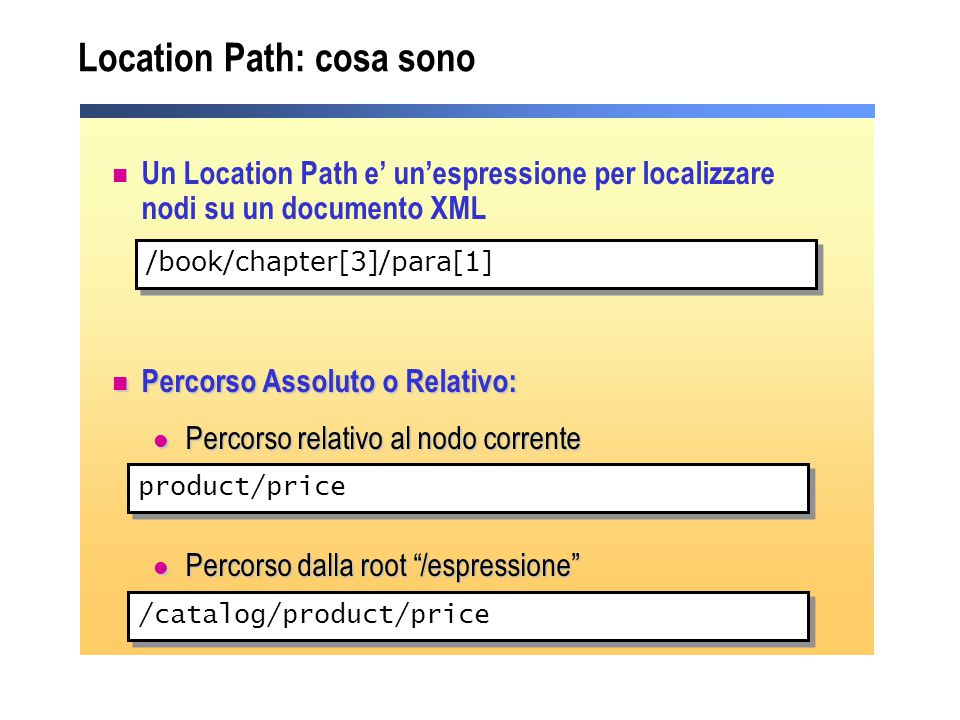 Location Path: cosa sono