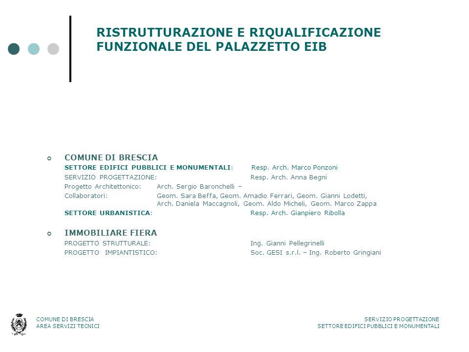 RISTRUTTURAZIONE E RIQUALIFICAZIONE FUNZIONALE DEL PALAZZETTO EIB