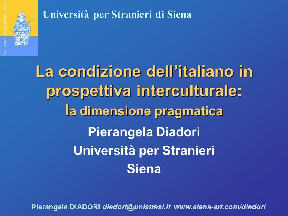 Pierangela Diadori Università per Stranieri Siena
