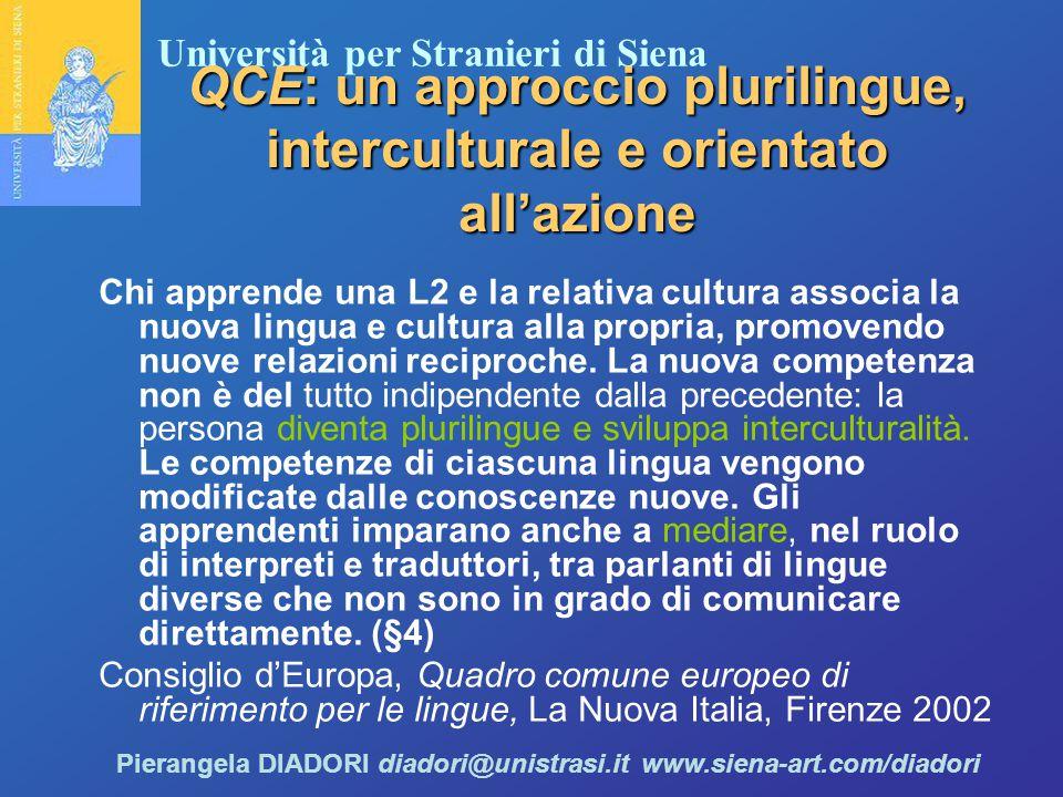QCE: un approccio plurilingue, interculturale e orientato all'azione