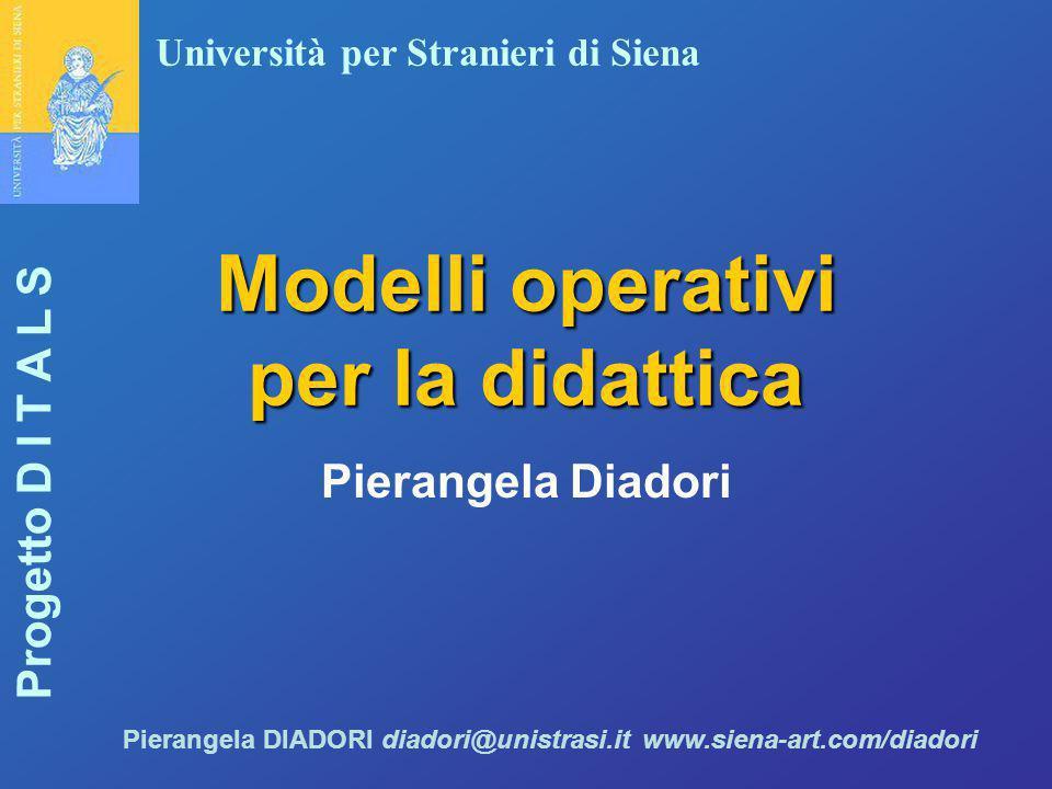 Modelli operativi per la didattica