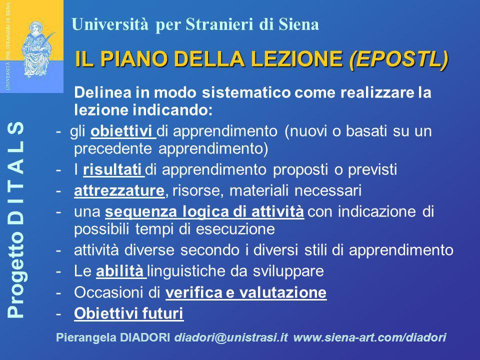 IL PIANO DELLA LEZIONE (EPOSTL)