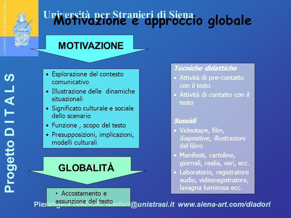 Motivazione e approccio globale