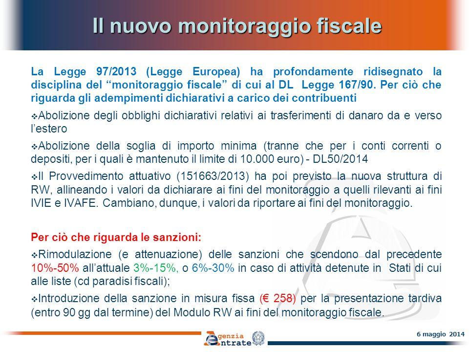 Il nuovo monitoraggio fiscale