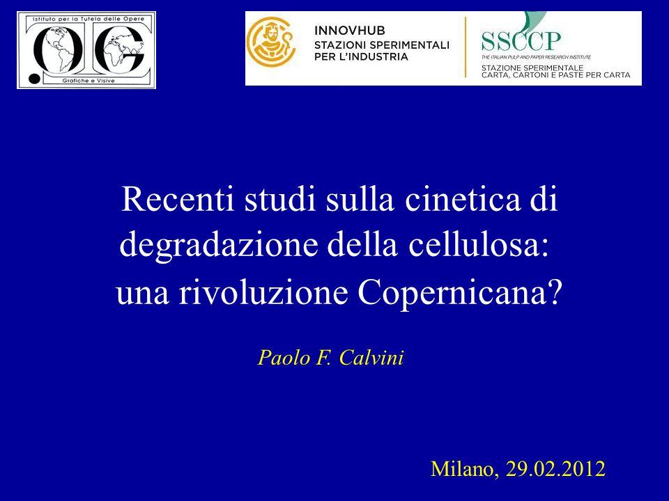 Recenti studi sulla cinetica di degradazione della cellulosa: una rivoluzione Copernicana