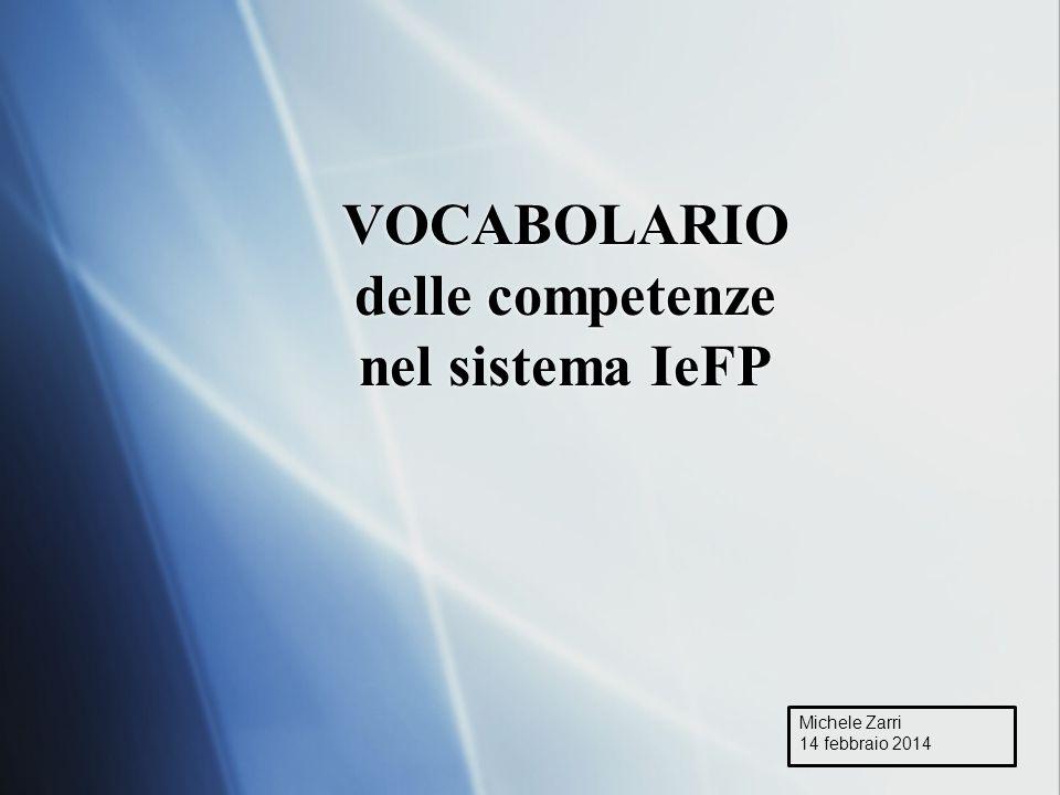 VOCABOLARIO delle competenze nel sistema IeFP