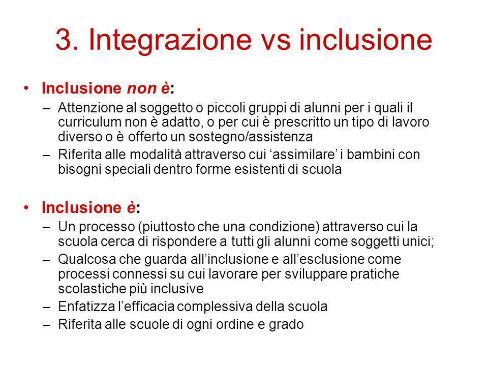 3. Integrazione vs inclusione