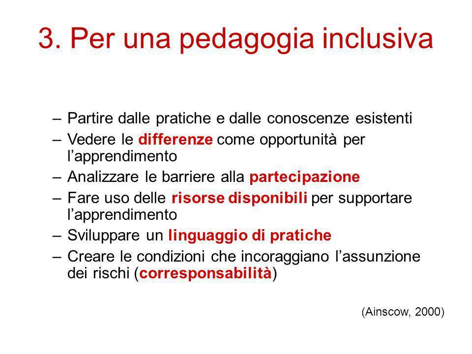 3. Per una pedagogia inclusiva