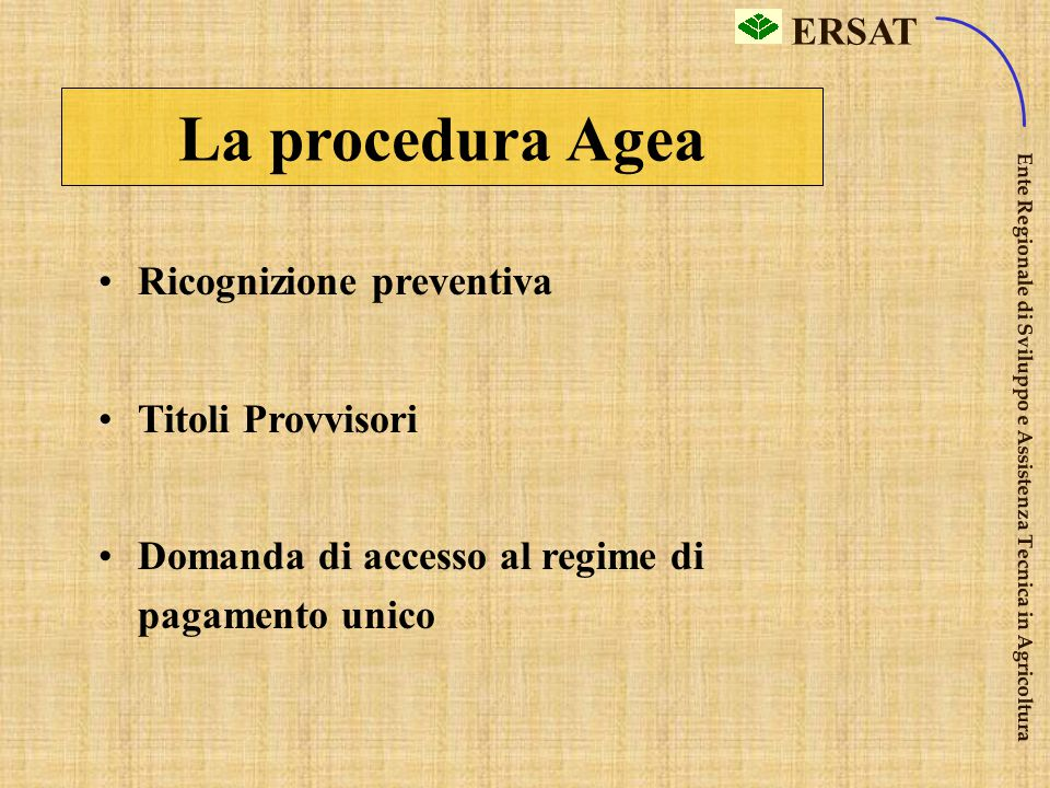 La procedura Agea Ricognizione preventiva Titoli Provvisori