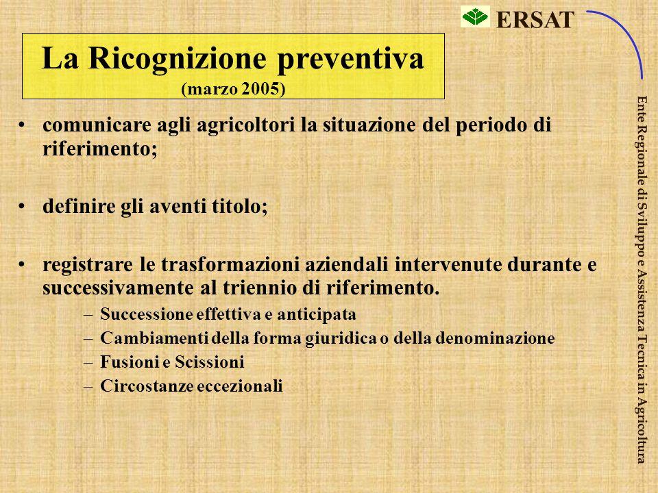 La Ricognizione preventiva (marzo 2005)