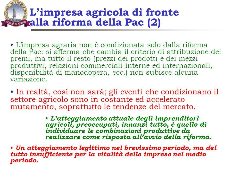 L'impresa agricola di fronte alla riforma della Pac (2)